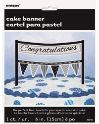image: Cake banner bunting Congratulations cake topper