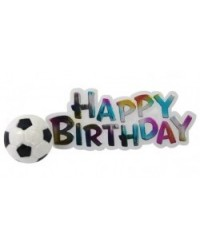 image: Happy Birthday Plaque with Soccer ball