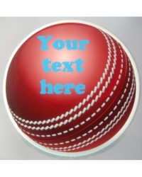 image: Custom cricket ball edible icing image