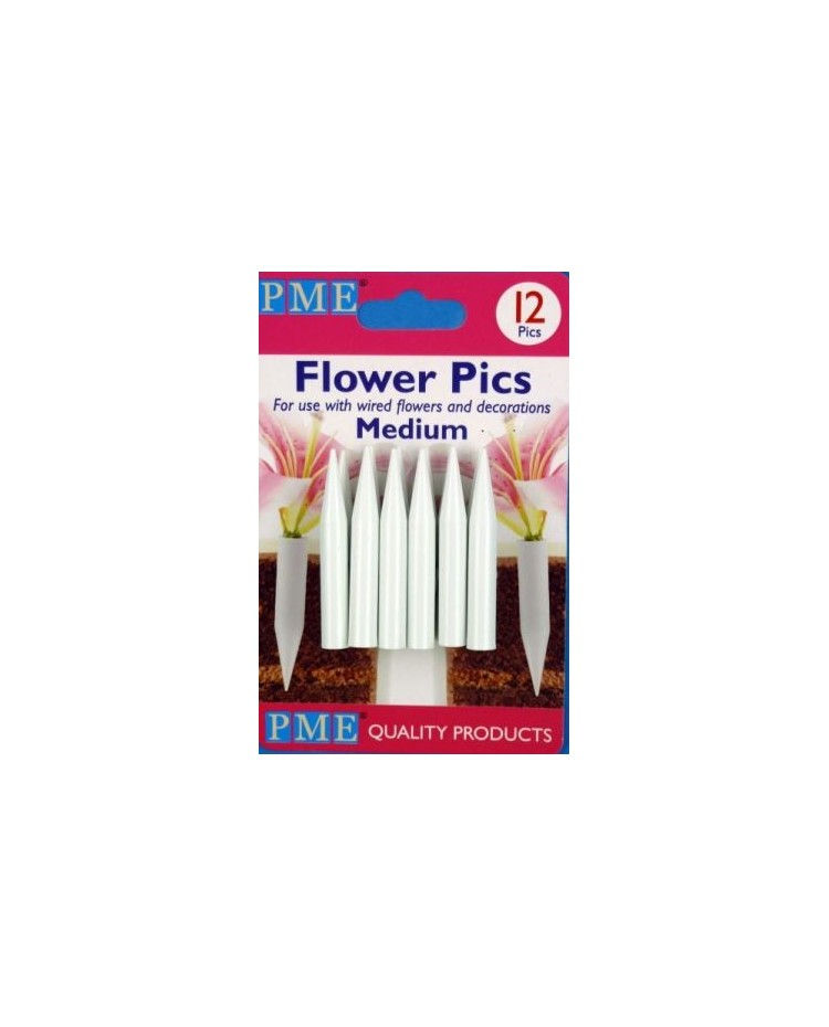 image: PME flower posy picks for feathers or wires 12pk medium