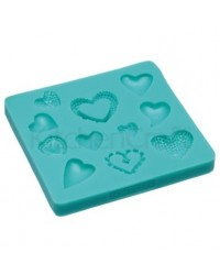 image: Assorted hearts silicone mould Sweetly Does It