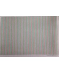 image: Wafer paper sheet Pink & Green Stripes