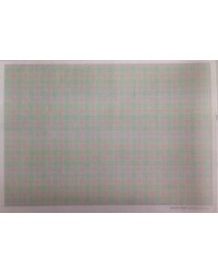 image: Wafer paper sheet Pink & Green Squares (tweed)