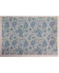 image: Wafer paper sheet Paisley Blue & White