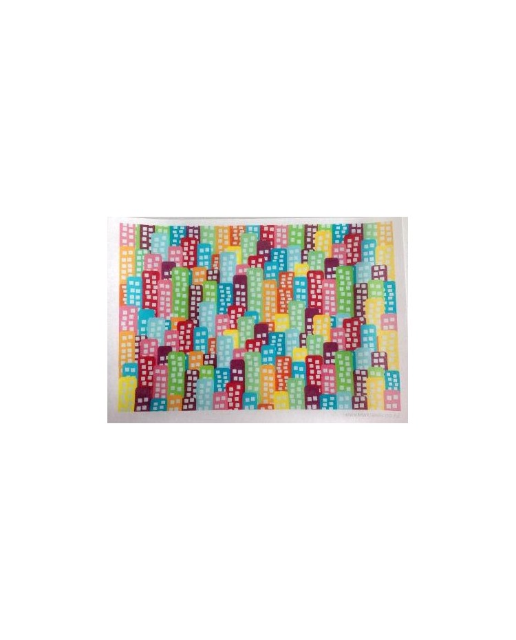 image: Wafer paper sheet Rainbow Block of Flats or High Rise buildings