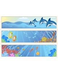 image: Edible image cake strips Under the sea