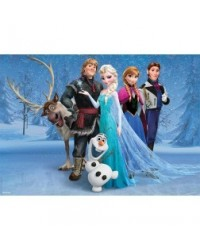 image: A4 Disney Frozen Group with Olaf edible image