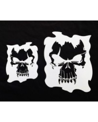 image: Single Skull stencil set 2 stencils