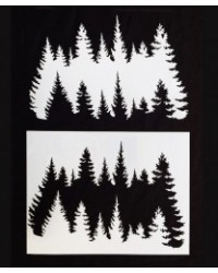 image: Forest of trees stencil