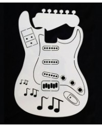 image: Guitar stencil for guitar shaped cake