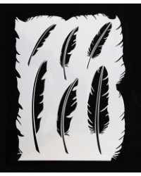 image: Feathers asstd feather stencil