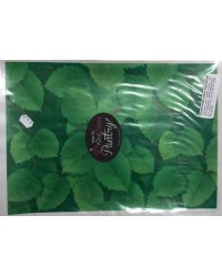 image: Wafer paper sheet Green leaves (solid background cover)
