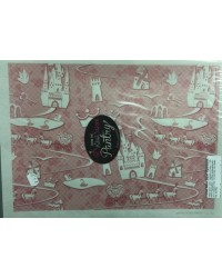 image: Wafer paper sheet Pink princess fairytale