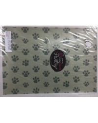 image: Wafer paper sheet Paw prints BROWN