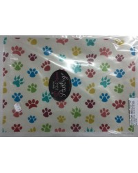 image: Wafer paper sheet Paw prints RAINBOW