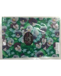 image: Wafer paper sheet Pansy purrple pansies