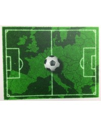 image: A4 Soccerball & world map soccer field edible icing image