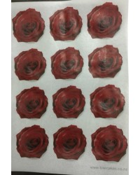 image: Wafer paper sheet 12 Rose flowers