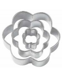 image: Flower Cut-Outs 6 petal blossom cutters set 3