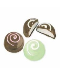 image: Truffles round dome fill chocolate mould koru swirl top