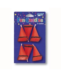 image: Construction cone orange candles set 6
