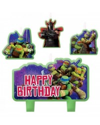 image: Teenage Mutant Ninja Turtles set 4 candles