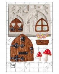 image: Fairy Door & Windows silicone mould