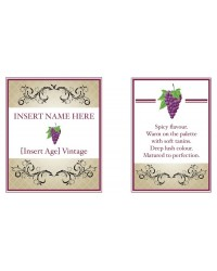 image: Custom edible image wine label red