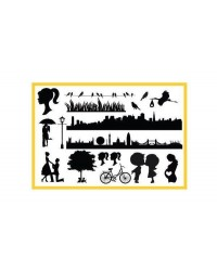 image: Wedding & City elements SILHO Silhouette mat mould