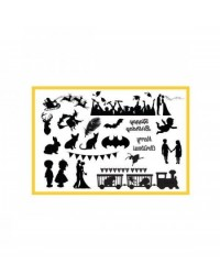 image: Holiday & Celebration elements SILHO Silhouette mat mould