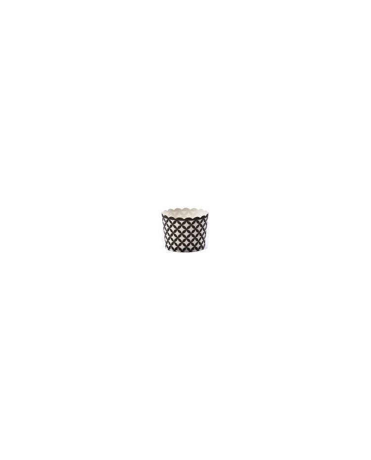 image: Black diamond straight sided cupcake papers baking cups