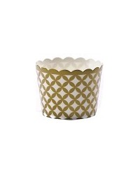 image: Gold diamond straight sided cupcake papers baking cups