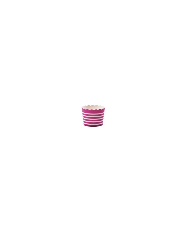 image: Fuchsia pink straight sided cupcake papers baking cups