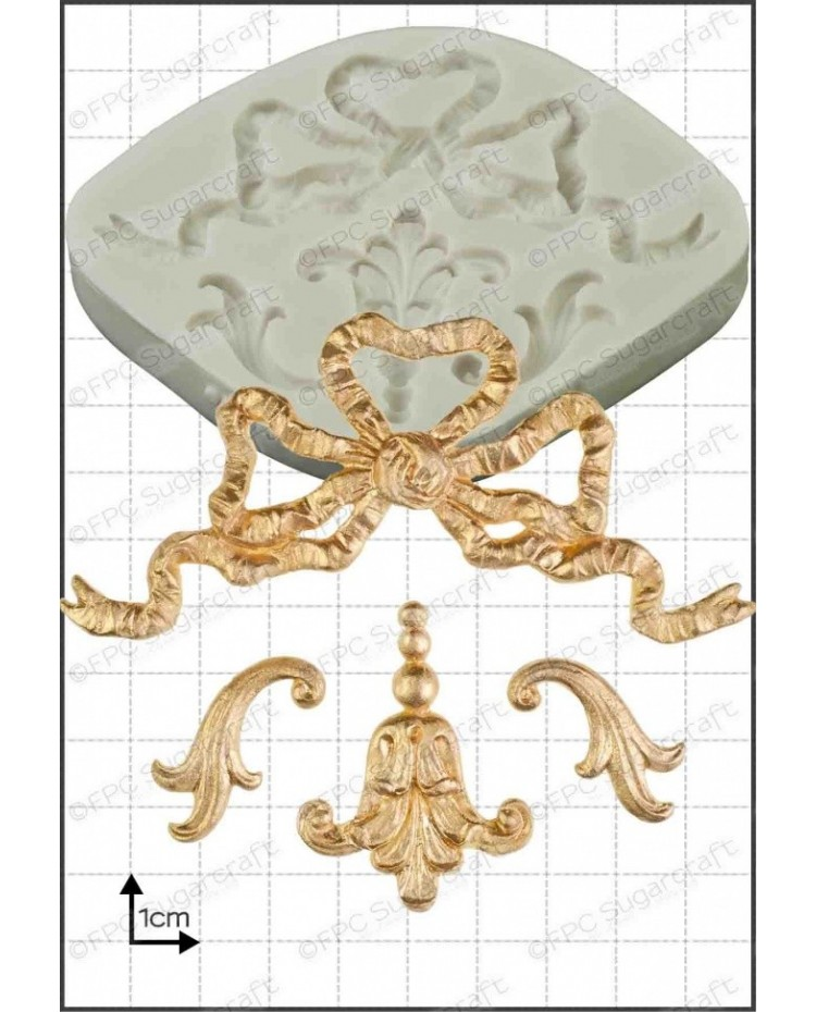 image: Baroque ribbons silicone mould