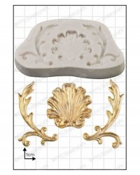 image: Baroque shell silicone mould