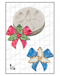 image: Holly Bow silicone mould