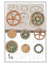 image: Steampunk Cogs & Gears silicone mould #2