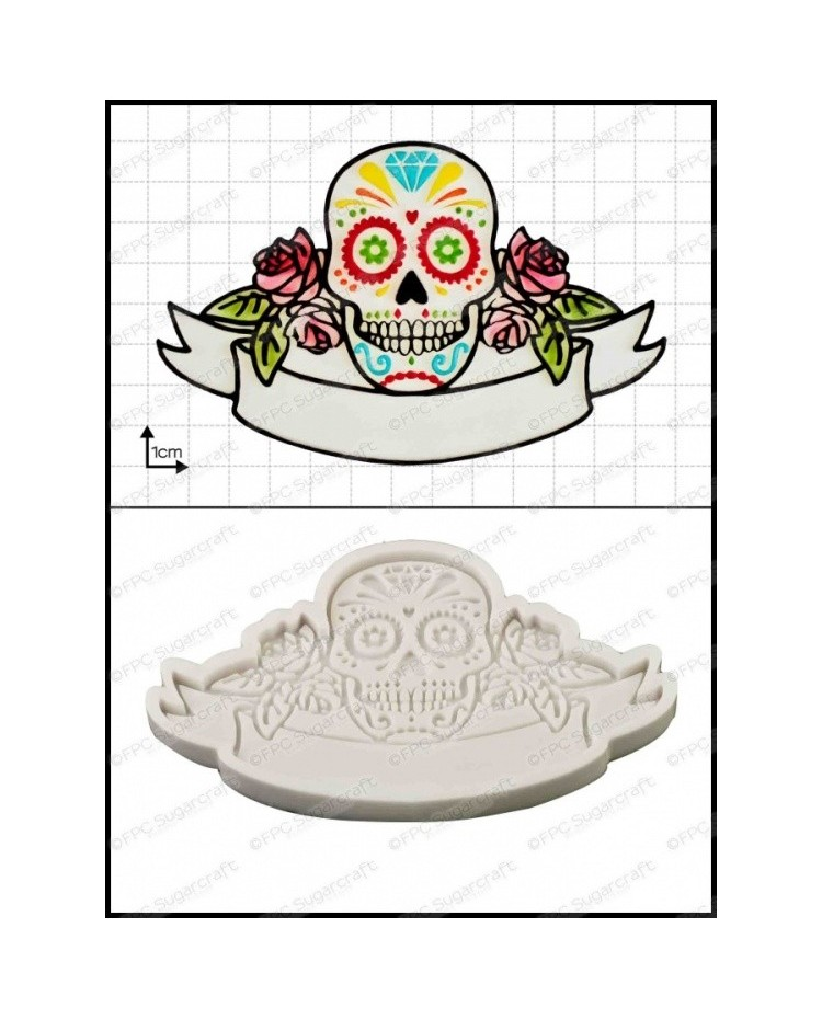image: Sugar Skull (day of the dead) silicone mould