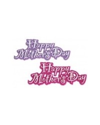 image: Mothers Day plastic plaque Hot Fuchsia pink