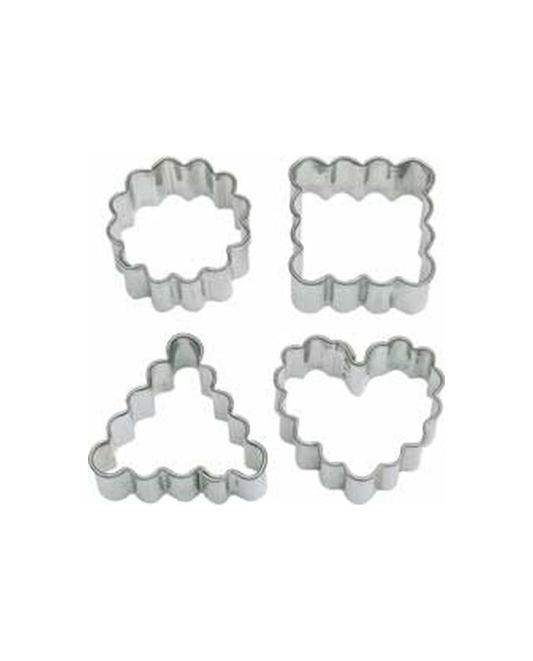 image: Crinkle shape cut outs heart square round & triangle cutters