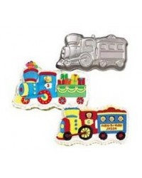 image: Train or locomotive cake pan