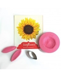 image: Sunflower flower cutter & veiner set