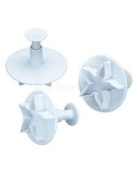 image: Calyx (or lotus) Fondant Plunger Ejector Cutters set 3 #2