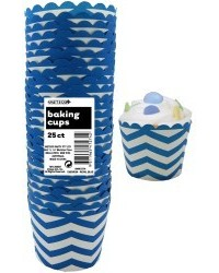 image: Chevron straight sided cupcake papers Royal Blue