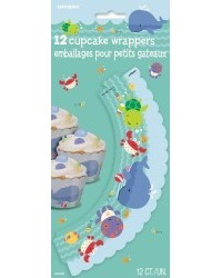 image: Under the sea pals (crab turtle whale) cupcake wrappers (12)