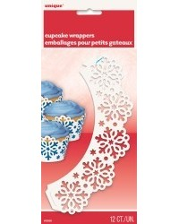 image: Snowflake snowflakes cupcake wrappers (12)