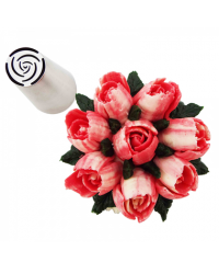 image: Large flower icing tip nozzle 10 Petal Rose (Russian Style)