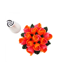 image: Large flower icing tip 7 Petal Rose (Russian Style)