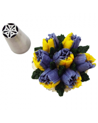image: Large flower icing tip nozzle Spring Tulip (Russian Style)