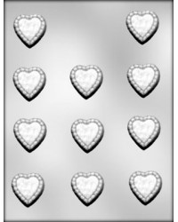 image: Hearts ruffled chocolate mould